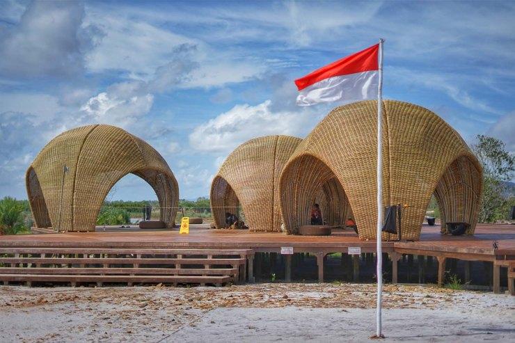 Image result for rumah keong belitung